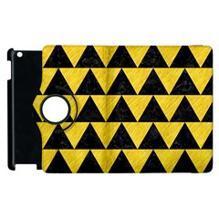 Triangle2 Black Marble & Yellow Colored Pencil Apple Ipad 2 Flip 360 Case