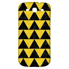 Triangle2 Black Marble & Yellow Colored Pencil Samsung Galaxy S3 S Iii Classic Hardshell Back Case