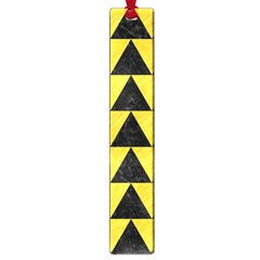 Triangle2 Black Marble & Yellow Colored Pencil Large Book Marks