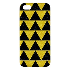 Triangle2 Black Marble & Yellow Colored Pencil Apple Iphone 5 Premium Hardshell Case