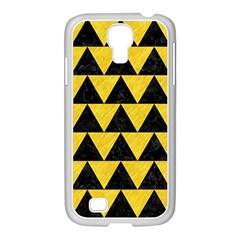 Triangle2 Black Marble & Yellow Colored Pencil Samsung Galaxy S4 I9500/ I9505 Case (white)