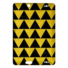 Triangle2 Black Marble & Yellow Colored Pencil Amazon Kindle Fire Hd (2013) Hardshell Case
