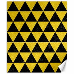 Triangle3 Black Marble & Yellow Colored Pencil Canvas 8  X 10