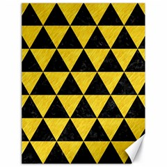 Triangle3 Black Marble & Yellow Colored Pencil Canvas 18  X 24