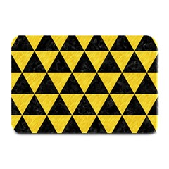 Triangle3 Black Marble & Yellow Colored Pencil Plate Mats