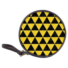 Triangle3 Black Marble & Yellow Colored Pencil Classic 20 Cd Wallets