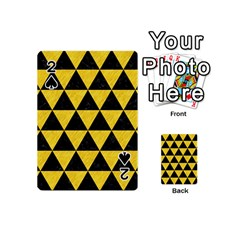 Triangle3 Black Marble & Yellow Colored Pencil Playing Cards 54 (mini)