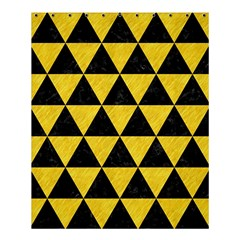 Triangle3 Black Marble & Yellow Colored Pencil Shower Curtain 60  X 72  (medium)