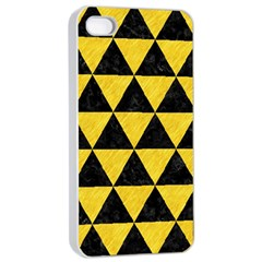 Triangle3 Black Marble & Yellow Colored Pencil Apple Iphone 4/4s Seamless Case (white)