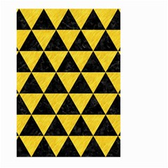 Triangle3 Black Marble & Yellow Colored Pencil Large Garden Flag (two Sides)