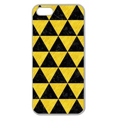 Triangle3 Black Marble & Yellow Colored Pencil Apple Seamless Iphone 5 Case (clear)