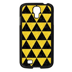 Triangle3 Black Marble & Yellow Colored Pencil Samsung Galaxy S4 I9500/ I9505 Case (black)