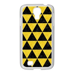 Triangle3 Black Marble & Yellow Colored Pencil Samsung Galaxy S4 I9500/ I9505 Case (white)