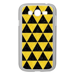 Triangle3 Black Marble & Yellow Colored Pencil Samsung Galaxy Grand Duos I9082 Case (white)