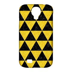 Triangle3 Black Marble & Yellow Colored Pencil Samsung Galaxy S4 Classic Hardshell Case (pc+silicone)