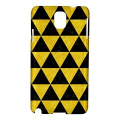 Triangle3 Black Marble & Yellow Colored Pencil Samsung Galaxy Note 3 N9005 Hardshell Case