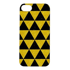 Triangle3 Black Marble & Yellow Colored Pencil Apple Iphone 5s/ Se Hardshell Case