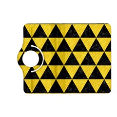 Triangle3 Black Marble & Yellow Colored Pencil Kindle Fire Hd (2013) Flip 360 Case