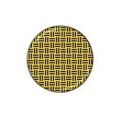 Woven1 Black Marble & Yellow Colored Pencil Hat Clip Ball Marker