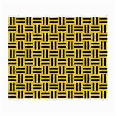 Woven1 Black Marble & Yellow Colored Pencil Small Glasses Cloth