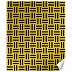 Woven1 Black Marble & Yellow Colored Pencil Canvas 8  X 10