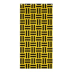 Woven1 Black Marble & Yellow Colored Pencil Shower Curtain 36  X 72  (stall)