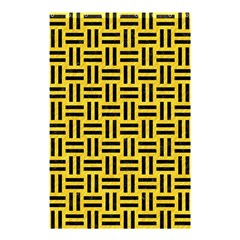 Woven1 Black Marble & Yellow Colored Pencil Shower Curtain 48  X 72  (small)