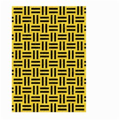 Woven1 Black Marble & Yellow Colored Pencil Large Garden Flag (two Sides)