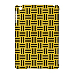 Woven1 Black Marble & Yellow Colored Pencil Apple Ipad Mini Hardshell Case (compatible With Smart Cover)
