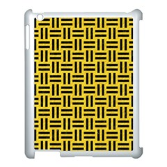 Woven1 Black Marble & Yellow Colored Pencil Apple Ipad 3/4 Case (white)
