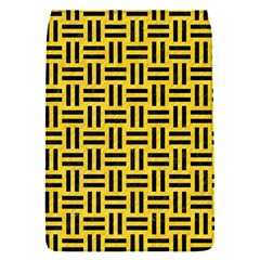 Woven1 Black Marble & Yellow Colored Pencil Flap Covers (s)