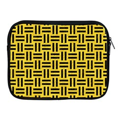 Woven1 Black Marble & Yellow Colored Pencil Apple Ipad 2/3/4 Zipper Cases