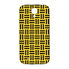 Woven1 Black Marble & Yellow Colored Pencil Samsung Galaxy S4 I9500/i9505  Hardshell Back Case