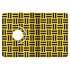 Woven1 Black Marble & Yellow Colored Pencil Kindle Fire Hdx Flip 360 Case