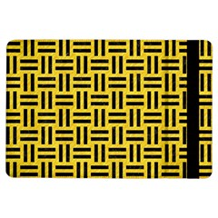 Woven1 Black Marble & Yellow Colored Pencil Ipad Air Flip
