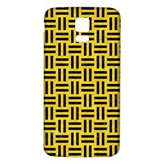 Woven1 Black Marble & Yellow Colored Pencil Samsung Galaxy S5 Back Case (white)