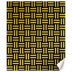 Woven1 Black Marble & Yellow Colored Pencil (r) Canvas 8  X 10
