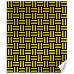 Woven1 Black Marble & Yellow Colored Pencil (r) Canvas 20  X 24