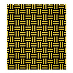 Woven1 Black Marble & Yellow Colored Pencil (r) Shower Curtain 66  X 72  (large)