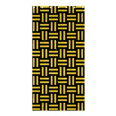 Woven1 Black Marble & Yellow Colored Pencil (r) Shower Curtain 36  X 72  (stall)