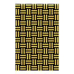 Woven1 Black Marble & Yellow Colored Pencil (r) Shower Curtain 48  X 72  (small)