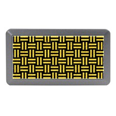 Woven1 Black Marble & Yellow Colored Pencil (r) Memory Card Reader (mini)