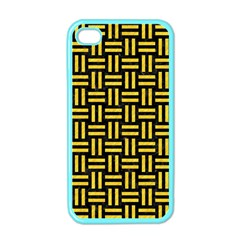 Woven1 Black Marble & Yellow Colored Pencil (r) Apple Iphone 4 Case (color)