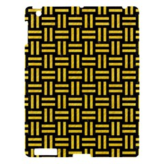 Woven1 Black Marble & Yellow Colored Pencil (r) Apple Ipad 3/4 Hardshell Case