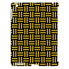 Woven1 Black Marble & Yellow Colored Pencil (r) Apple Ipad 3/4 Hardshell Case (compatible With Smart Cover)
