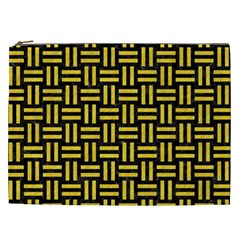 Woven1 Black Marble & Yellow Colored Pencil (r) Cosmetic Bag (xxl)