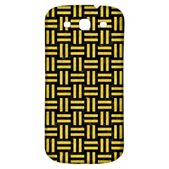 Woven1 Black Marble & Yellow Colored Pencil (r) Samsung Galaxy S3 S Iii Classic Hardshell Back Case