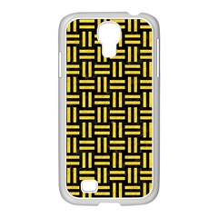 Woven1 Black Marble & Yellow Colored Pencil (r) Samsung Galaxy S4 I9500/ I9505 Case (white)