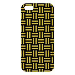 Woven1 Black Marble & Yellow Colored Pencil (r) Iphone 5s/ Se Premium Hardshell Case
