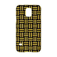 Woven1 Black Marble & Yellow Colored Pencil (r) Samsung Galaxy S5 Hardshell Case
